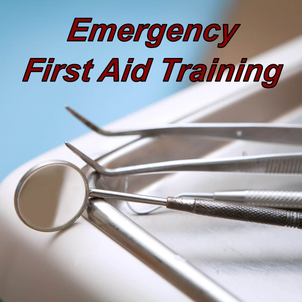 CPD certified level 2 approved emergency first aid training course certification online, suitable for dentists.